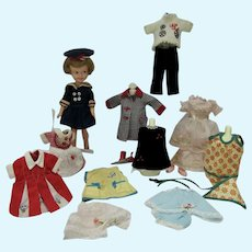 Vintage Topper Penny Brite Doll w/Wardrobe, 1963