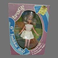 """NRFB Dawn Clone, Tracy, 6"""" Fashion Doll, 1970's"""