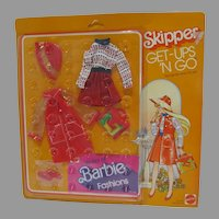 Rare NRFB Mattel Skipper Outfit, Red Set for When It's Wet, Get Ups 'N Go, 1977