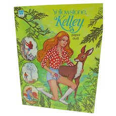 Vintage Mint Un-Cut Yellowstone Kelley Paper Dolls, Whitman, 1975, Mattel