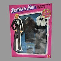 NRFB Mattel Ken Wedding Party Fashions, Suited for the Groom, 1979
