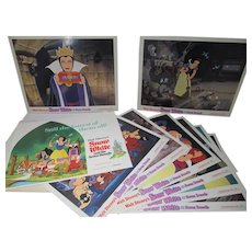 Complete Set of Lobby Cards, Snow White & The Seven Dwarfs, 1970's Re-release