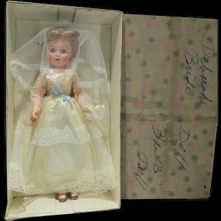 MIB Beautiful 19Inch 1950's Fashion Doll, Bride, Belle Doll Co.