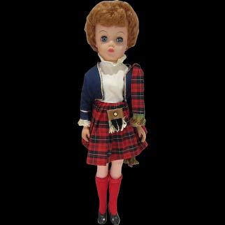 Vintage Bonnie the Plaid Lassie Doll, Mint, EF MacDonald Plaid Stamp Co. 1960's