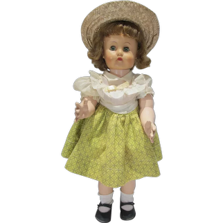 1950's Hard Plastic & Vinyl 21 Inch Walking Doll