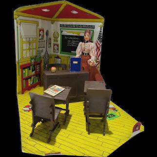 Vintage&Rare Ideal Jody's School House w/ Doll, 1976