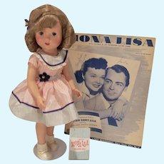 Rare 1955 Mona Lisa Doll, 1955, Original Outfit & Tag