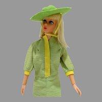 Vintage Mattel Living Barbie in Snap Dash Outfit, 1970