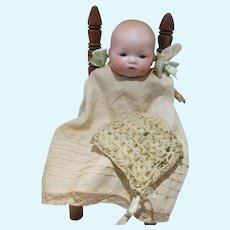 "Antique 1900's A&M 10"" Dream Baby, Bisque Head, Cloth Body, Compo Hands"