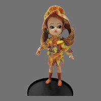 Vintage Hasbro Dolly Darlings Doll, Slick Set, 1960's