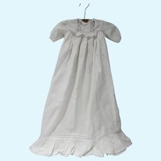 Vintage Cotton Christening Gown, For Doll or Child