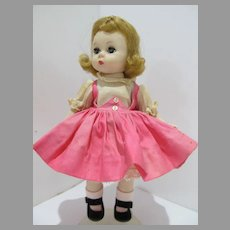 Adorable 1950's Madame Alexander-kin Wendy is Tagged Dress
