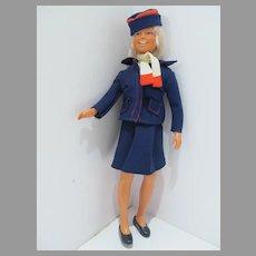 Rare Kenner Dusty British Airways Airlines Stewardess Doll, 1974