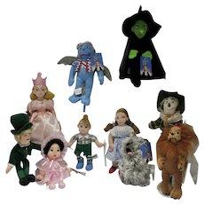 Set of Warner Brothers Studio Store Plush Wizard of Oz Dolls, 1998