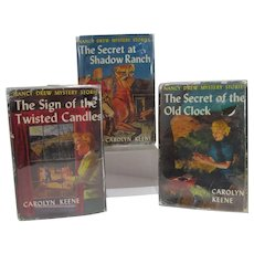 Set of 3 Vintage Nancy Drew Mystery H/C Books, Carolyn Keene