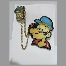 Vintage Designs of the Deep Popeye Brooch, 1989