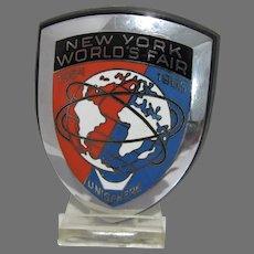 Unused 1964-1965 New York Worlds Fair Auto Emblem
