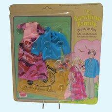 Mattel NRFB Sunshine Family Dress Up Kit, 1974