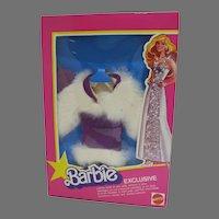 HTF, NRFB Barbie Exclusive Fur & Suede Coat Set Mattel, 1979
