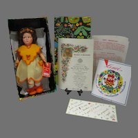 "MIB 14 Inch Lenci Doll, ""Alice"", 1986 w/COA"