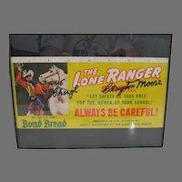 Clayton Moore, The Lone Ranger, Autograph, Bond Bread Advert, 1940's