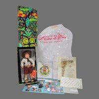 VIntage Boxed Lenci Cloth Boy Doll, Aldo, 1986