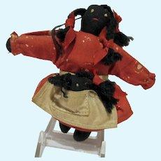 VIntage Cloth Black Americana Doll, 1950's
