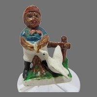 Black Americana Ceramic Figure, Made in Japan, 1940's