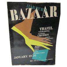Harpers Bazaar Magazine, Brodovitch Art Deco Cover,Jan 1936