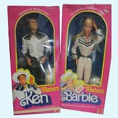 Vintage Superstar Era Western Barbie & Ken, MIB, Mattel, 1980