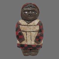 VIntage Wooden Carved Black Americana Folk Art Figure