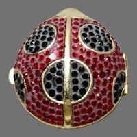 Vintage Estee Lauder Jeweled Lucidity Lady Bug Compact