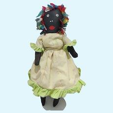 Black Americana Folk Art Cloth Doll, Hand Made
