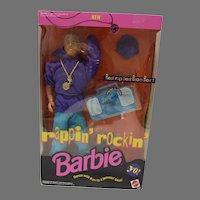 NRFB Rappin' Rockin' Ken,  Mattel 1991