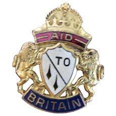 Vintage WWII Aid To Britain Badge/Brooch by Karu