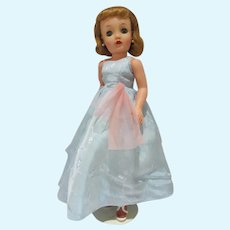 """Vintage Ideal 18"""" Miss Revlon Doll in Evening Gown, 1950's"""