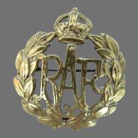 Vintage RAF, Royal Air Force Badge, 1940's