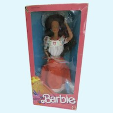 Vintage Mattel Mexican Barbie, NRFB 1987