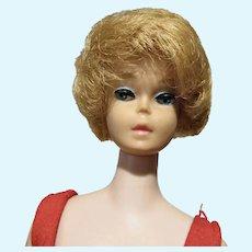 VIntage 1963 Blond Barbie Bubble Cut, Pink Lips