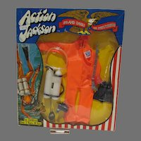 NRFB Action Jackson Outfit #1104, Frogman, 1971, Mego