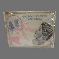 NRFC Girl Doll Accessory Wardrobe, 1950's Old Store Stock!