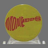 VIntage Monkee's Pin Back Fan Club Button 1967