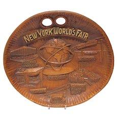 1964 New York World's Fair Wooden Bowl, Near Mint!