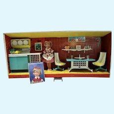Vintage Topper Penny Brite Kitchen Dinette Set w/Box & Accessories, 1960's