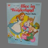 Whitman Walt Disney Alice in Wonderland Paper Dolls, Un-Cut, 1976