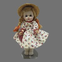 """Charming Cosmopolitan 8"""" Ginger Doll, 1950's, In Tagged Outfit"""