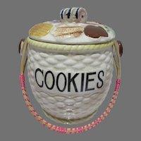 1950's Ceramic Cookies Cookie Jar, Cute