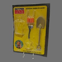 Vintage Hasbro Geyper Man Action Figure Accessory Pak, 1975