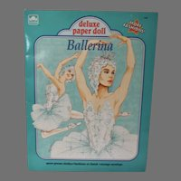 VIntage Deluxe Paper Doll Ballerina, Golden, 1991, Un-cut