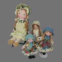 Original Holly Hobbie & Friends Cloth Dolls, 1970's
